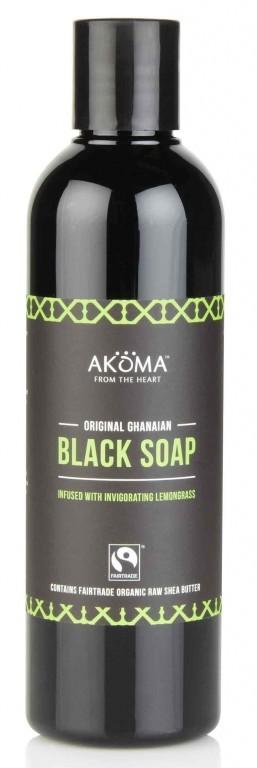 BIO černé africké tekuté tělové mýdlo s citr. trávou, 250ml