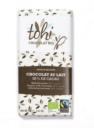 Bio Mléčná čokoláda TOHI 38%, 70g
