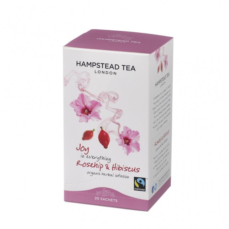 BIO bylinný čaj s šípkem a ibiškem HAMPSTEAD, sáčkový, 20 x 1,5g