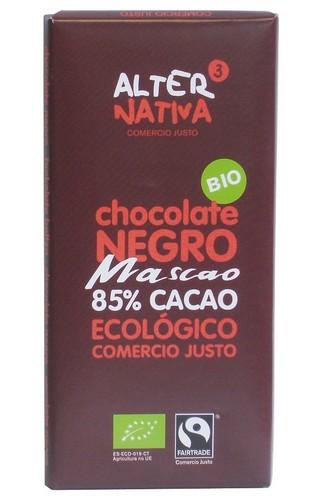Bio hořká čokoláda MASCAO 85% kakaa, Alternativa3, 80g