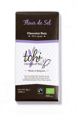 Bio Hořká čokoláda TOHI 'Feur de Sel', 30g