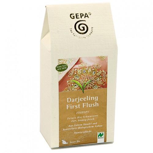 BIO černý sypaný čaj Darjeeling, GEPA, 100g