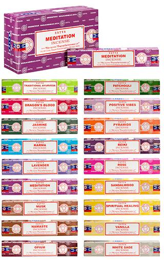 Vonné tyčinky Nag Champa MEDITATION SERIES - 8 variant, 15 tyčinek Reiki