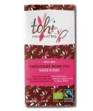 Bio Hořká čokoláda TOHI s růžovým pepřem 74%, 70g