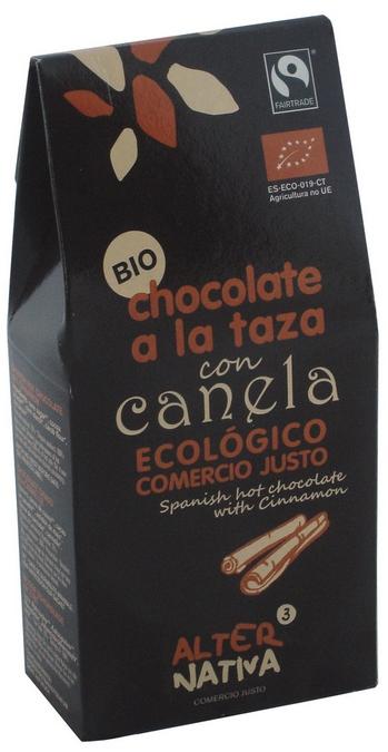 Bio Španělská horká čokoláda SKOŘICE, Alternativa3, 125g