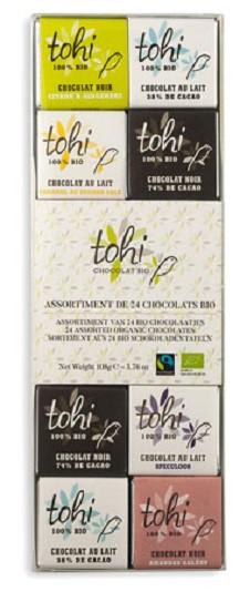 Bio Kolekce 24 gourmet miničokoládek TOHI, 108g