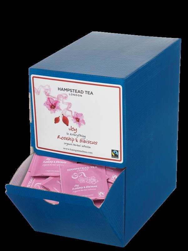 BIO bylinný čaj s šípkem a ibiškem HAMPSTEAD, sáčkový, jednotlivě balený, 250 × 1,5 g