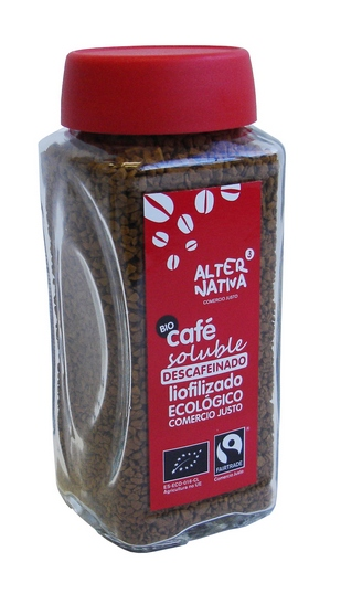 Bio Instantní káva vymražovaná SOLUBLE BEZ KOFEINU, Alternativa3, 100g