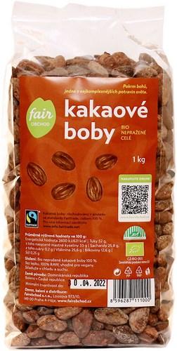 Bio kakaové boby celé nepražené, 1kg