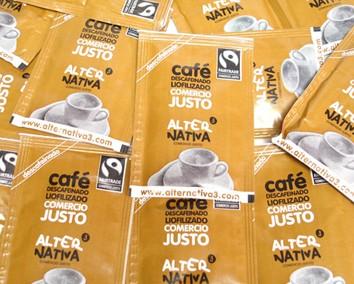 Bio Instantní káva vymražovaná SOLUBLE BEZ KOFEINU, Alternativa3, 375 porcí