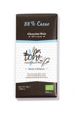 Bio Hořká čokoláda TOHI 88% kakaa, 30g