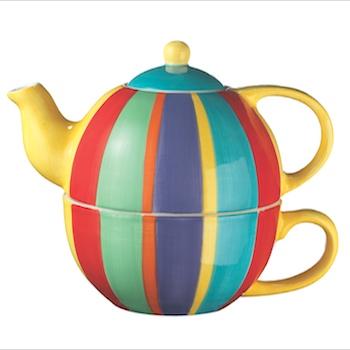 Čajová souprava Tea for one STRIPY z Thajska, Namaste