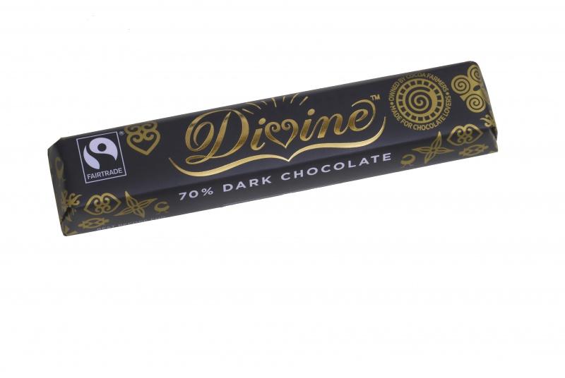 Divine hořká čokoládová tyčinka, 70 % kakaa, 35g