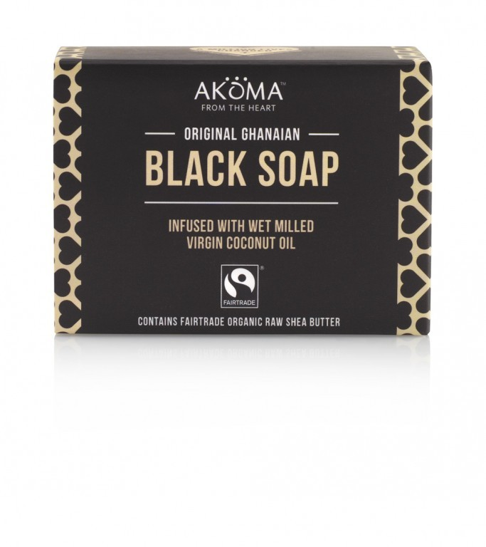 BIO Černé africké tuhé mýdlo AKÖMA, 145g