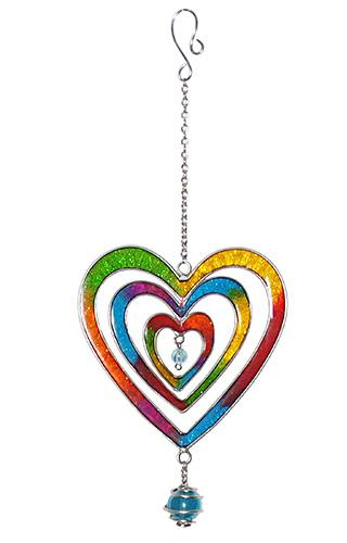 HEARTS závěsná vitrážová dekorace, Namaste