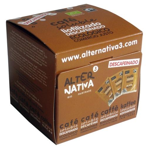 Bio Instantní káva vymražovaná SOLUBLE BEZ KOFEINU, Alternativa3, 25 porcí