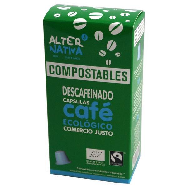 Bio Kávové kapsle kompostovatelné BEZ KOFEINU, 10ks (Nespresso® kompatibilní)