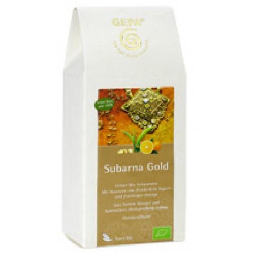 Černý sypaný čaj Subarna Gold s pomerančem a zázvorem, GEPA, 100g