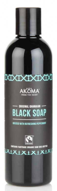 BIO Černé africké tekuté tělové mýdlo s mátou, 250ml