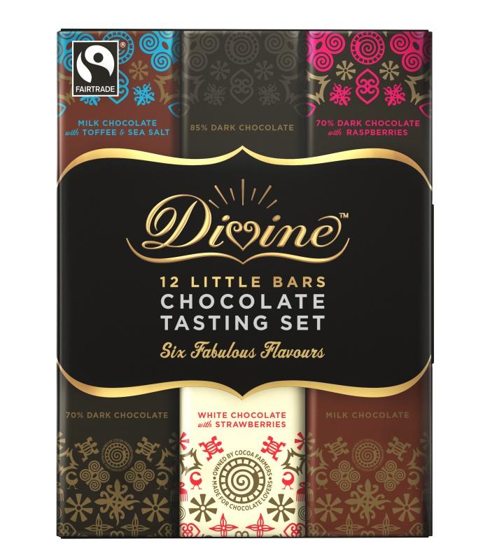 Divine dárkové balení 12 malých čokolád, 180 g
