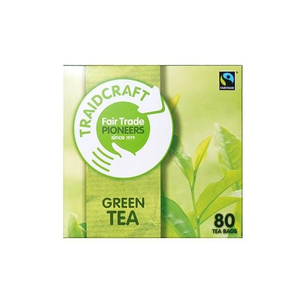 Zelený čaj Traidcraft 80 sáčků, 160g