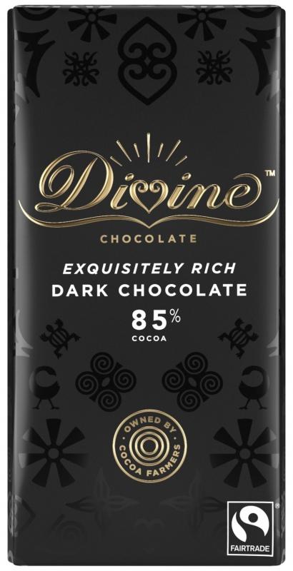 Divine hořká čokoláda, 85 % kakaa, 90 g