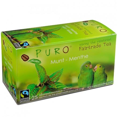 Puro porcovaný čaj zelený s mátou, 25x2g