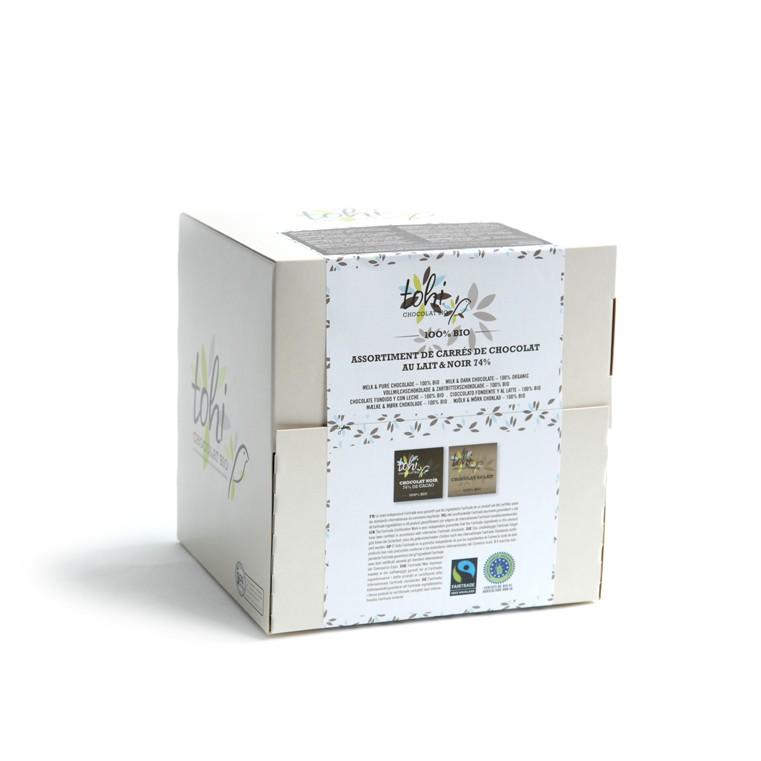 Bio Miničokoládky TOHI hořké a mléčné, 1800g