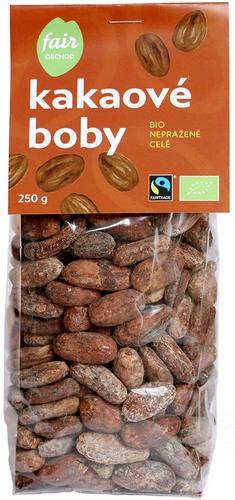Bio kakaové boby celé nepražené, 250g