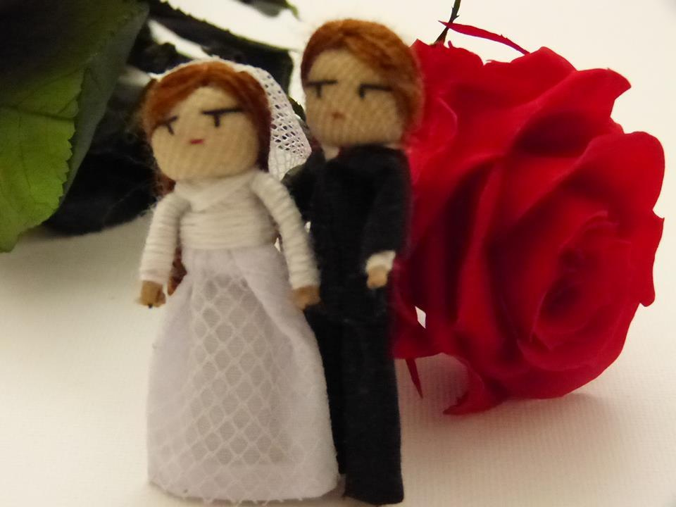 Svatební panenka strachu - pár, z Guatemaly