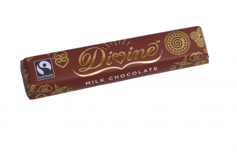 Divine mléčná čokoládová tyčinka, 26 % kakaa, 35g