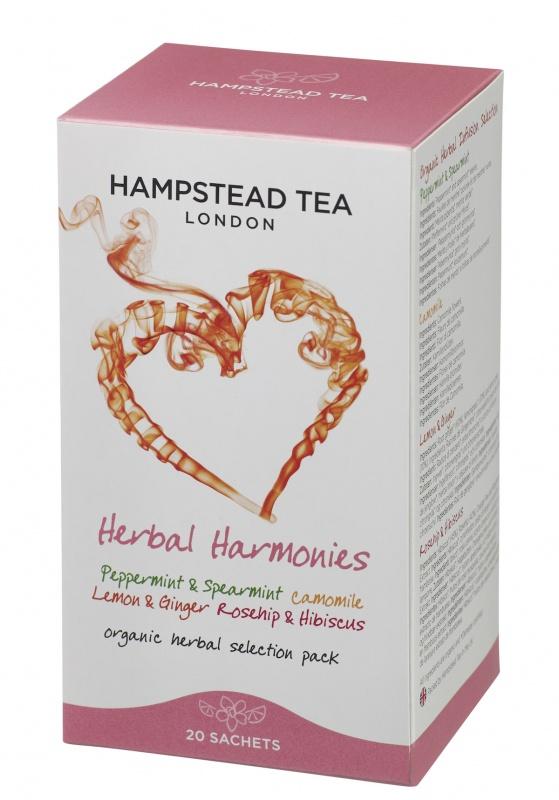 BIO Výběr bylinných čajů Hampstead, sáčkový, 20x 1,25 g